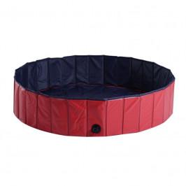 Goleto Skládací bazén pro psa 140 x 30 cm | červený