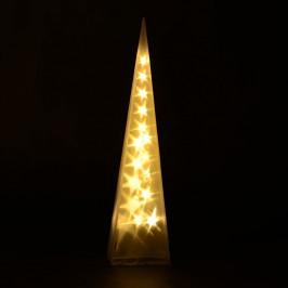 Goleto Vánoční pyramida 90 cm   16 LED teplá bílá