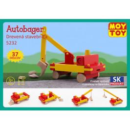 Moy Toy Dřevěná stavebnice Autobagr Moy Toy