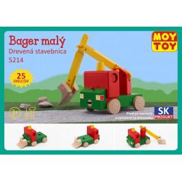 Moy Toy Dřevěná stavebnice Malý bagr Moy Toy