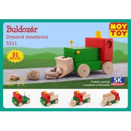 Moy Toy Dřevěná stavebnice Buldozer Moy Toy