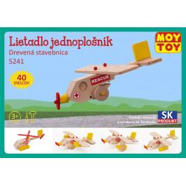 Moy Toy Dřevěná stavebnice Letadlo jednoplošník Moy Toy