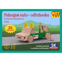 Moy Toy Dřevěná stavebnice Policejní auto - odtahovka Moy Toy