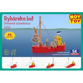 Moy Toy Dřevěná stavebnice Rybářská loď Moy Toy