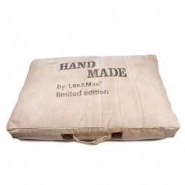 Lex & Max Luxusní pelíšek pro psa Lex & Max Hand Made 120 x 80 cm | béžový
