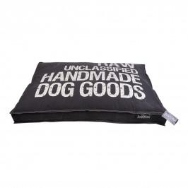 Lex & Max Luxusní potah na pelíšek pro psa Lex & Max Raw 75 x 50 cm | antracit