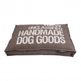 Lex & Max Luxusní potah na pelíšek pro psa Lex & Max Raw 90 x 65 cm | hnědý