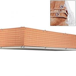 Goleto Balkonová stínící plachta 0,9 x 5 m | hnědá