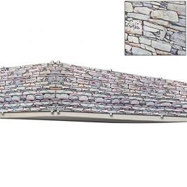 Goleto Balkonová stínící plachta 0,9 x 5 m | vzhled kameny