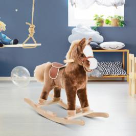 Goleto Dětský houpací kůň | hnědý