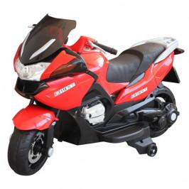 Goleto Luxusní dětská elektrická motorka 120 x 60 x 65 cm | červeno-černá