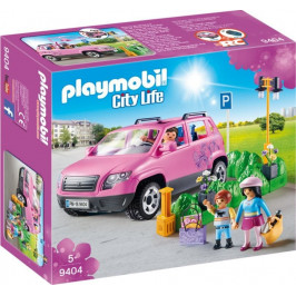Playmobil Playmobil 9404 Rodinné auto s parkovacím místem