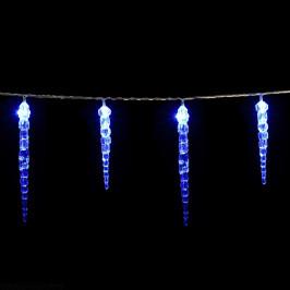 Goleto Vánoční LED řetěz rampouchy 5,4 m | modrá 40 LED