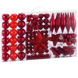 Goleto Vánoční ozdoby sada 102 kusů   červené