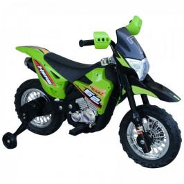 Goleto Dětská elektrická Cross motorka 105 x 53 x 70 cm | zeleno-černá
