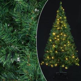 Goleto Umělý vánoční stromeček včetně LED osvětlení 180 cm   zelený