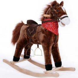 Goleto Plyšový houpací kůň se zvuky | tmavě hnědý