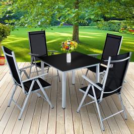Goleto Zahradní hliníková sestava Bern | stůl + 4 židle