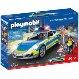 Playmobil Playmobil 70066 Porsche 911 Carrera 4S Policie se zvukem a světly