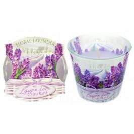 Goleto Vonná svíčka Floral Lavender | 3 kusy