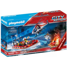 Playmobil Playmobil 70335 Hasiči s helikoptérou a člunem