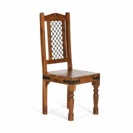 Židle Jali z indického masivu palisandr, Only stain