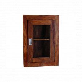 Nástěnná skříňka do koupelny Nale 40x60x15 z indického palisandru, Ořech