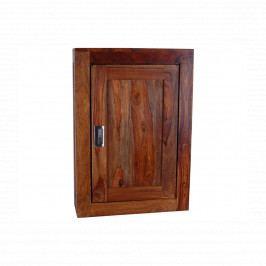 Nástěnná skříňka do koupelny Nela 40x60x15 z indického pasisandru, Ořech