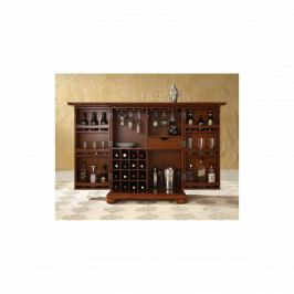 Rozkládací barová skříň Colombo z indického palisandru, Tmavě medová