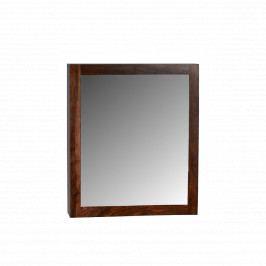 Skříňka do koupelny se zrcadlem Nela 65x80x15 z indického masivu palisandr, Two tone