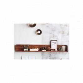 Police na zed' Rami 100x22 z indického palisandru, Světle medová