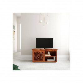 TV stolek Mira 120x50x45 z indického masivu palisandr, Světle medová