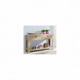 Konzolový stůl Amba 115x35 z indického masivu palisandr, Natural
