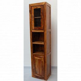 Skříňka do koupelny Suri 42x180x35 z indického masivu palisandr, Natural