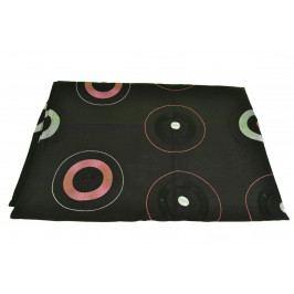 Ubrus černý s kruhy 45x160 cm