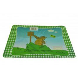 Podložky pod talíř - zelené se zvířátky