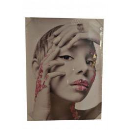 Obraz žena - růžový 60x80cm