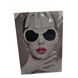Obraz žena - brýle bílé 2. 50x70cm