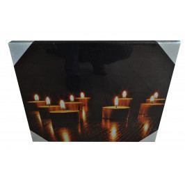 Svítící obraz svíčky 1. 40x50cm