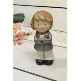Keramický chlapeček modlící se (v. 14 cm)