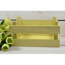 Dřevěná bedýnka - žlutá (25x11x17 cm)