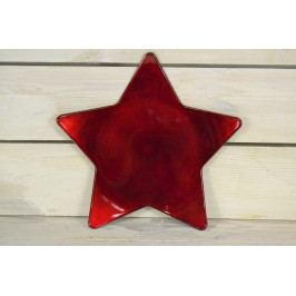 Umělý tác HVĚZDA - červeně-bordó (p. 23,5 cm)