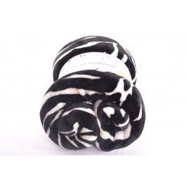 Flísová deka - smetanově černá (150x200 cm)