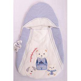 Dětský batoh MEDVÍDEK S MOTÝLEM - modrý