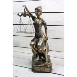 Socha spravedlnosti JUSTICE (v. 35 cm) vzor 987 - staré zlato