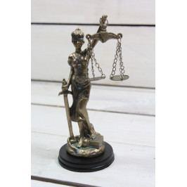 Socha spravedlnosti JUSTICE (v. 15,5 cm) vzor 986 - staré zlato