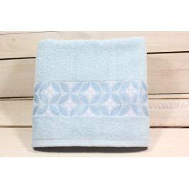 Ručník froté (48x88 cm) - bledě modrý VZOR 18