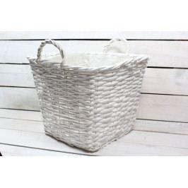 Proutěný košík (31x25,5x31 cm) - bílý