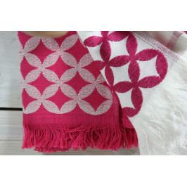 Kuchyňské utěrky VZOR 1. - růžovo-bílé (2 x 40x60 cm)