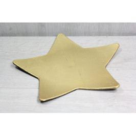Plastová tácek hvězda - zlatá (p. 23,5 cm)